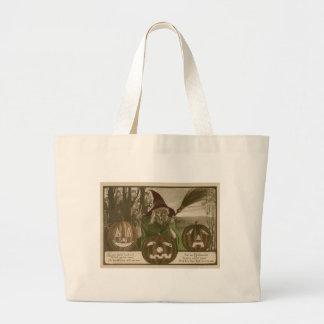 Witch Jack O' Lantern Pumpkin Goblin Jumbo Tote Bag