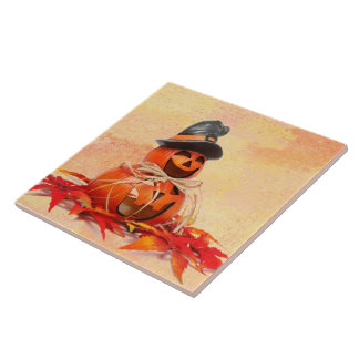 Witch Jack-O-Lantern Tile