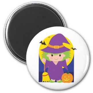 Witch Kid 6 Cm Round Magnet