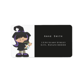 Witch Kids costumes address label