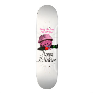 Witch killed by to cupcake 21.6 cm old school skateboard deck
