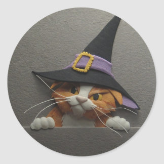 Witch Kitten Stickers