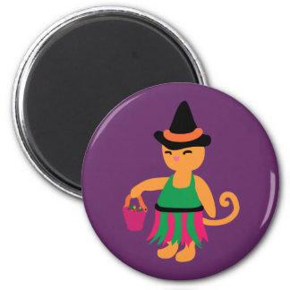 Witch Kitty 6 Cm Round Magnet