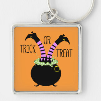Witch Legs in Black Pot I Trick or Treat Keychain