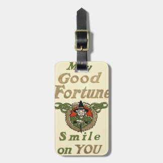 Witch May Good Fortune Smile On You Tribal Luggage Tag