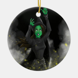 Witch - No Good Deed Ceramic Ornament