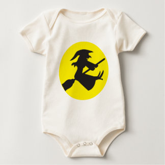 WITCH on a Broomstick HALLOWEEN design Baby Bodysuit