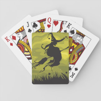Witch On A Broomstick Playing Cards