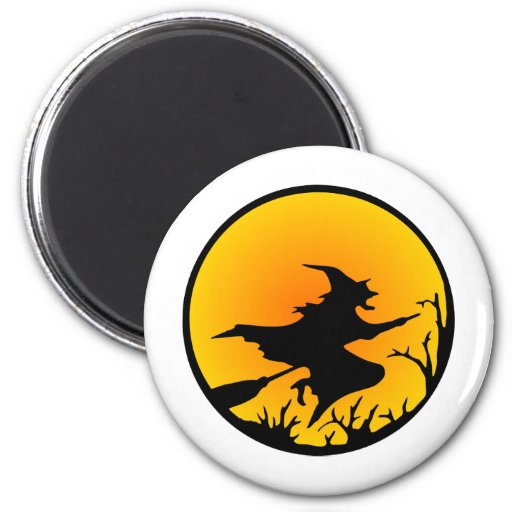 Witch On Broom Magnet