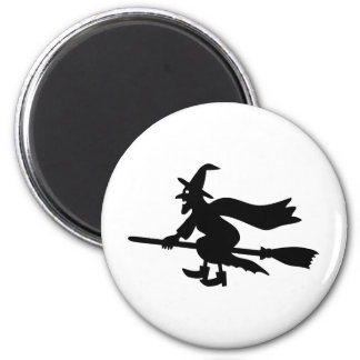 Witch on brooms magnet