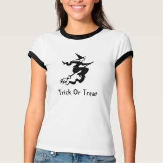 Witch On Broomstick Trick Or Treat Tee Shirts