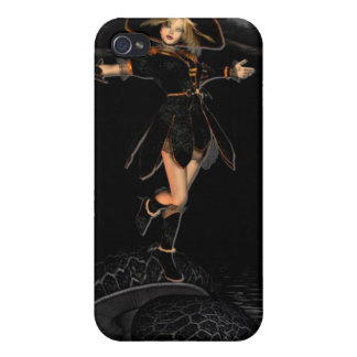 Witch on Toad Stool iPhone Case iPhone 4 Cases