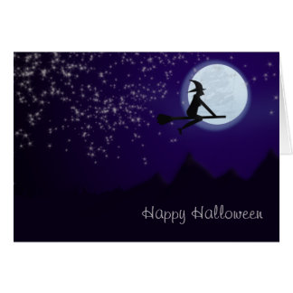 Witch Over the Mountains Card