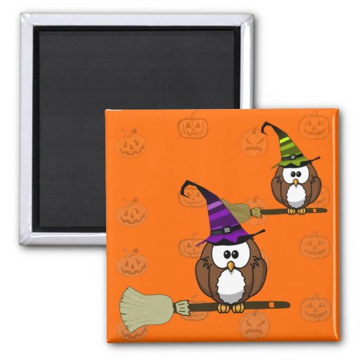 witch owl magnet