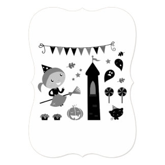Witch party greeting / Recycle paper Card