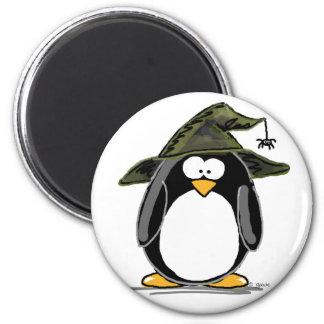 Witch Penguin 6 Cm Round Magnet