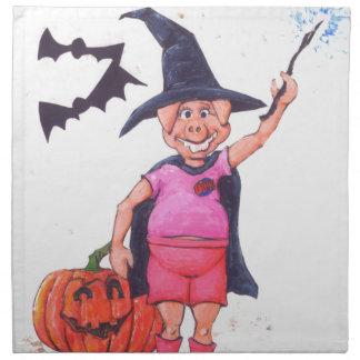 Witch Pig Napkin