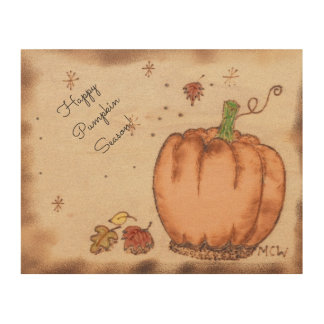 Witch Prim Autumn Pumpkin Sign Color