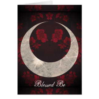 Witch Prim Horned Moon Goddess Card