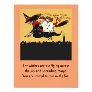 witch ride invitation