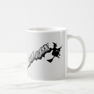 Witch Riding Broom Halloween Thunder_Cove Coffee Mug