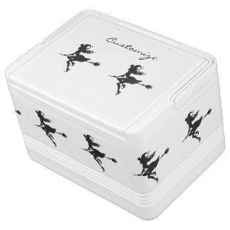 Witch Riding Broom Thunder_Cove  Halloween Cooler