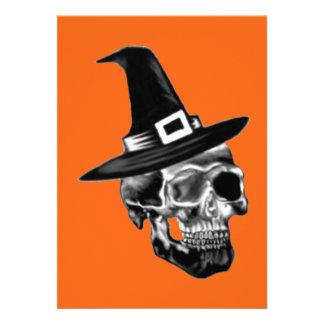 Witch Skull Invatation Custom Invite