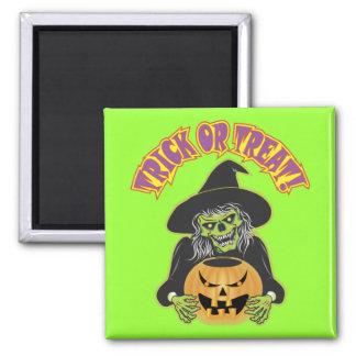 Witch Skull Fridge Magnets