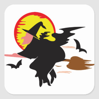 Witch Square Sticker