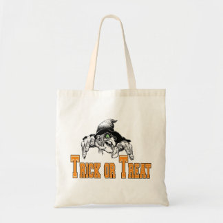 Witch Trick Or Treat Halloween Tote Bag Budget Tote Bag
