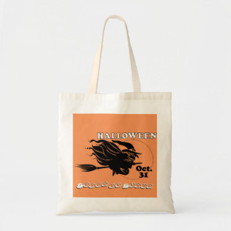 Witch trick or treat budget tote bag