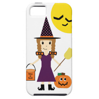 Witch Trick or Treating on Halloween iPhone 5 Covers