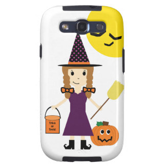 Witch Trick or Treating on Halloween Galaxy S3 Galaxy S3 Cover
