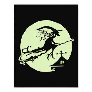 "Witch Vane Moon 4.25"" X 5.5"" Invitation Card"