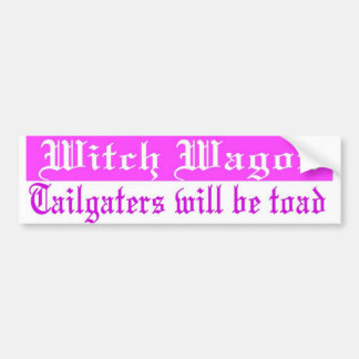 witch wagon bumper bumper sticker
