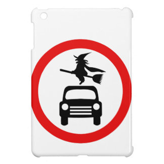 Witch Warning: No Cars or BroomSticks iPad Mini Cover
