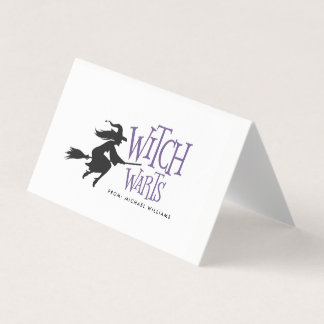 Witch Warts Halloween Candy Bag Topper Place Card