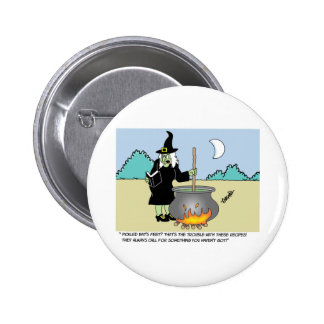 Witch With A Recipe Book Button