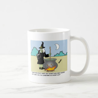 Witch With A Recipe Book Coffee Mugs
