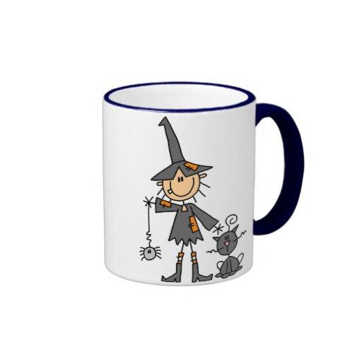 Witch with Black Cat Mug
