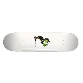 Witch with froggy skate board deck