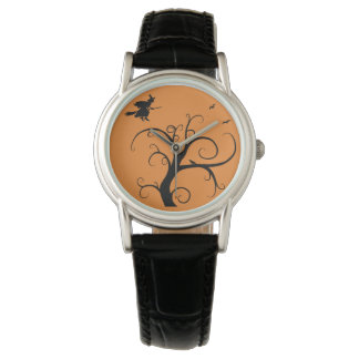 Witch with Tree Halloween Fashion Watch by Julie