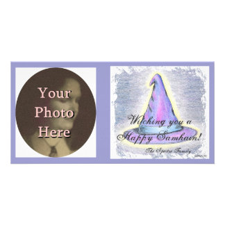 Witch Wizard Samhain Greeting  Photo Ready Customised Photo Card