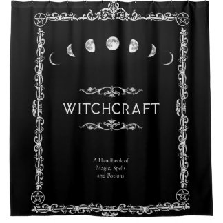 Witchcraft A Handbook of Magic Spells and Potions Shower Curtain