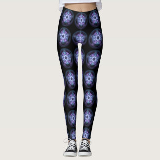 Witchcraft Blue Fire Pentagram Leggings