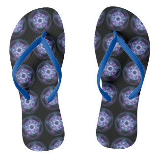 Witchcraft Blue Fire Pentagram Pattern Thongs