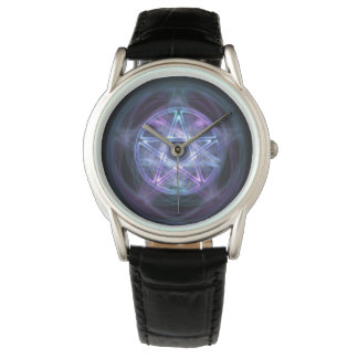 Witchcraft Blue Fire Pentagram Watch