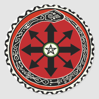 Witchcraft Symbol for Chaos Classic Round Sticker