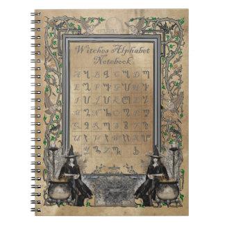Witches Alphabet Notebook
