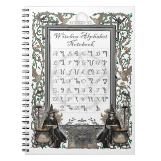 Witches Alphabet Notebook (White)